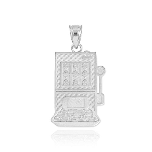 Good Luck Charms Fine 925 Sterling Silver Casino Slot Machine Charm Pendant