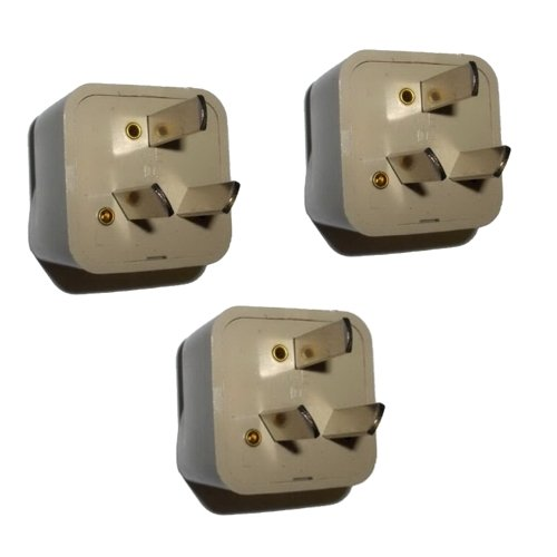 HQRP 3 Pack AC Adaptor Converts USA to ARG (Argentina) Outlet Travel Plug Adapter