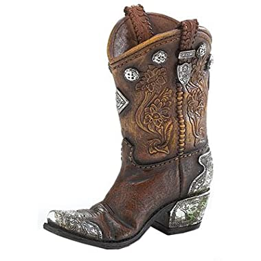 Boots and Spurs Western Cowboy Boot Vase for Western Home Decor (1)