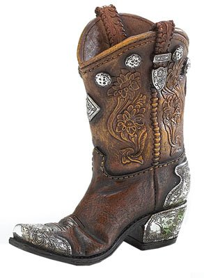 Burton & Burton Boots And Spurs Western Cowboy Boot Vase For Western Home (Cowboy Boot Decoration)