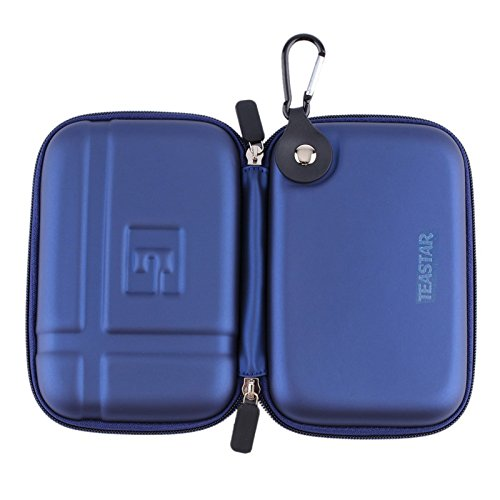 5'' Inch Hard Carrying Travel GPS Case Bag Pouch Protective Shell For 5'' 5.2 Inch Garmin Nuvi 55LM 54LM/54 52LM/52 2597LMT 2577LT 2557LMT 3597LMT TomTom Magellan RoadMate Devices Blue by Teaeshop (Image #2)'