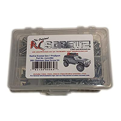 RCScrewZ RedCat Racing Everest Gen 7 Pro | Sport Stainless Steel Screw Kit - (290+ pieces) - rcr064 - screws nuts washers parts and hardware: Toys & Games