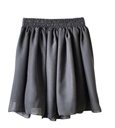 Femme GrisFonc Short Court Taille Jupe Rtro Unique YouPue Hippie lgante Plisse Minijupe Jupe 7d7qwg