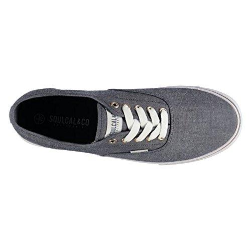 1c60ba44a772d9 SoulCal Sunset Herren Leinenschuhe Canvas Schnuerschuhe Freizeit Stoff  Schuhe Blau 9 (43)  Amazon.de  Bekleidung