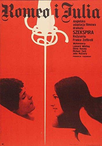 Romeo and Juliet Flier Movie Polish 27 x 40 Inches - 69cm x 102cm Leonard Whiting Olivia Hussey John McEnery Milo O'Shea Pat Heywood