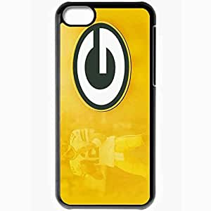 Personalized iPhone 5C Cell phone Case/Cover Skin 1114 green bay packers Black
