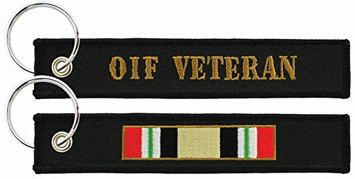 - OIF Veteran Ribbon Embroidered Key Chain