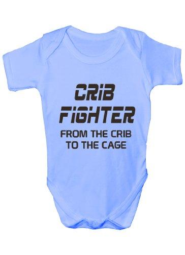 Print4u Crib Fighter ~ UFC/MMA ~~Baby Onesie 3-6 blue