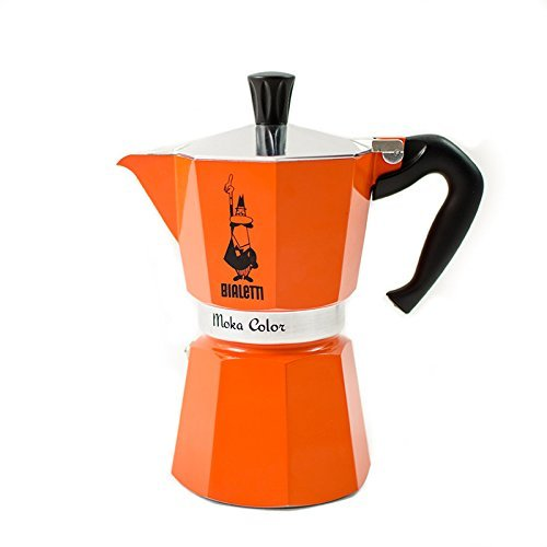 Bialetti 3 cup Moka Express Orange [Italian Import]