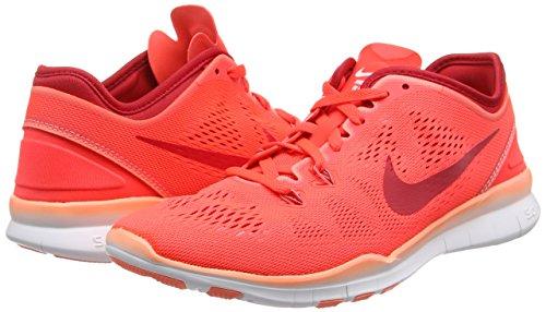 Nike Frauen Free 5.0 Tr Fit 5 Prt Trainingsschuh Frauen US Brght Crmsn / Prm Rd / Atmc Pnk / Wh