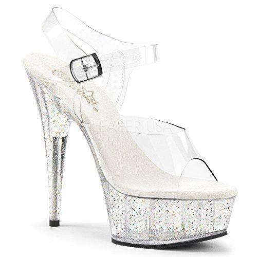 6 Inch Heel (Pleaser Womens DELIGHT-608MG/C/M Sandal)