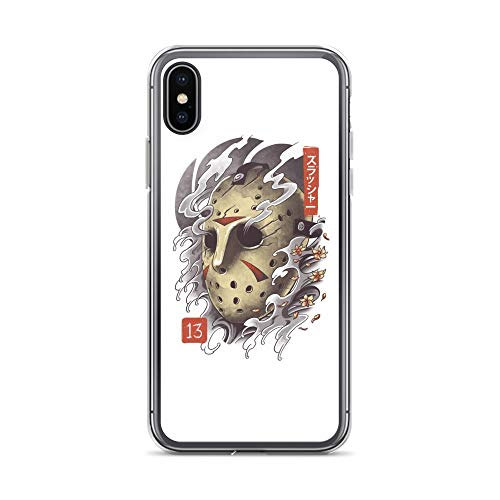 iPhone X/XS Case Anti-Scratch Motion Picture Transparent Cases Cover Oni Jason Mask Movies Video Film Crystal Clear]()