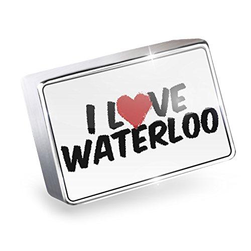 Floating Charm I Love Waterloo Fits Glass Lockets, - Waterloo Glasses