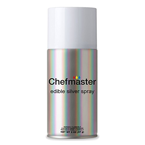Chefmaster by US Cake Supply 2-Ounce Edible Glitter Silver Spray