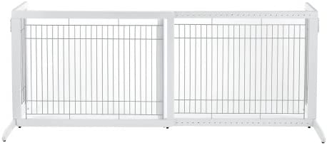 Richell Freestanding Pet Gate, High-Large, Origami White