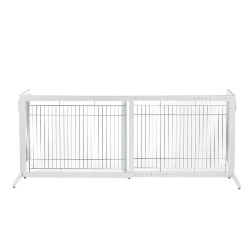 Richell Freestanding Pet Gate, High-Large, Origami White by Richell