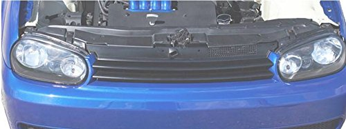 R&L Racing 99-04 05 Vlokswagen Mk4 Golf Gti Blk Horizontal Badgeless Front Hood Bumper Grill Grille (Vw Golf Grill)