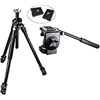 Manfrotto MT290XTA3US 290 Xtra 3-Sec Aluminum Tripod Kit with 128RC Micro Fluid Video Head and Two Replacement Quick Release Plates for the RC2 Rapid Connect Adapter