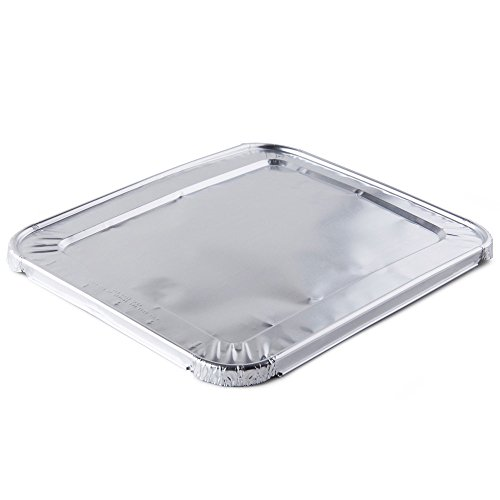 A World Of Deals Aluminum Foil Lids for Steam Table, Fits Half-Size Pans, 1 Bags of 30