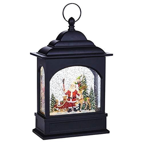 RAZ Imports Santa Selfie Lighted Water Lantern 11 Inch Lighted Christmas Snow Globe with Swirling Glitter by RAZ Imports