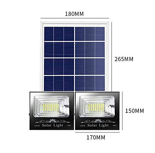 Luz De Inundación LED Solar Exterior, Luces De Seguridad Solar El ...