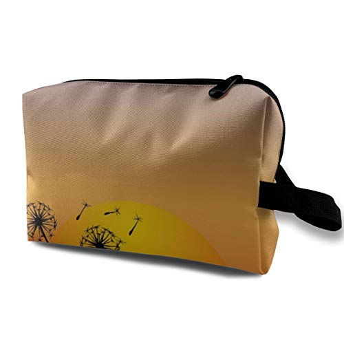 Yunshm Dandelion Wind Blowing in The Sunset Customized Cosmetic Storage Bag Waterproof Woman for Travel Carry Bag]()