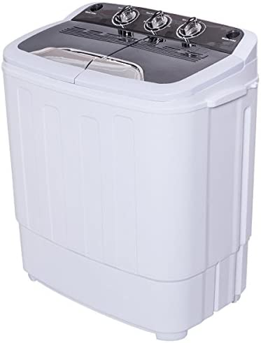 8 lbs Compact Mini Twin Tub Washing Machine Washer Spin Dryer