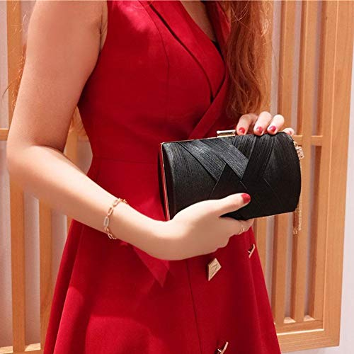 Clutch Handbag Embroidered Bag Bag Wedding Shoulder Prom Evening Party Beaded Vintage Black Women Tote Y0wqAxH5