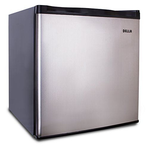 Della Compact Upright Freezer, Stainless Steel , Single Reversible Door 1.1 Cubic Feet