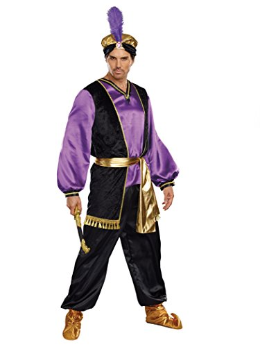 Dreamgirl Men's The Sultan Costume, Purple/Black/Gold, X-Large]()