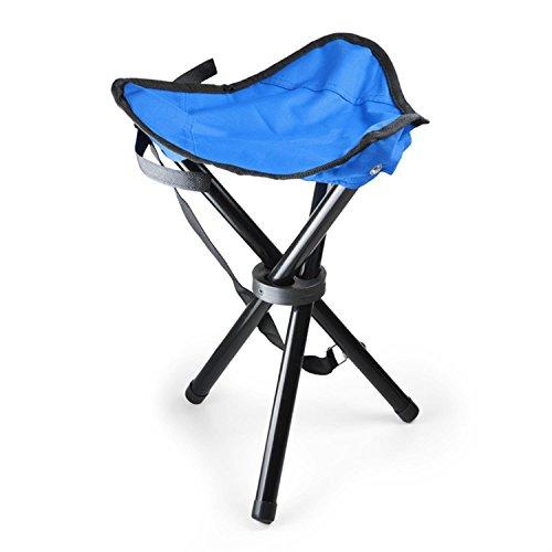 Duramaxx Camping-Hocker Dreibein Sitz-Hocker faltbar, klappbarer Angel-Sitz (ca. 500g leicht, bis max. ca. 80kg, Klapp-Hocker mitTragegriff, wetterfester Kuststoff) rot grün blau oder schwarz