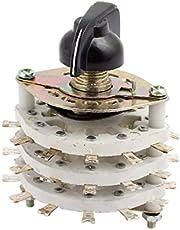 New Lon0167 KCT 9 Pole 3 Position Three Decks Band Channel Rotary Switch Selector with Cap(KCT 9 Pole 3 Position DREI Decks Bandkanal - Drehschalter mit Kappe