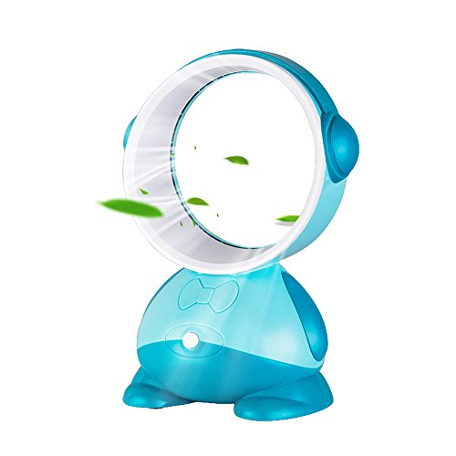 GooDGo Bladeless Fan Air Multiplier Desk Fan, Portable Cooler Ultra Quiet Cooling Fan Suitable for Children Home Office Library Travel Bedroom