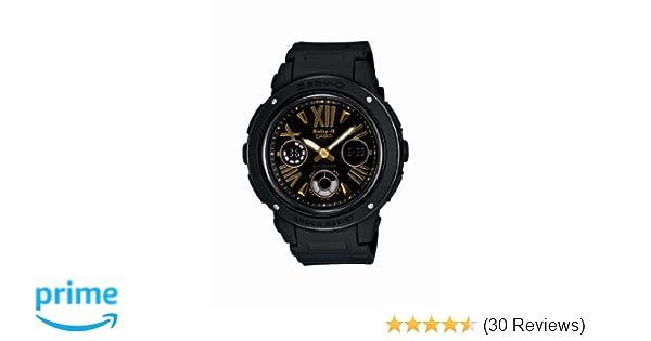 5998719a1b1e Amazon.com: Casio Women's BGA153-1B Baby-G Baby-G Shock Black and Rosegold  Tone Analog Watch: Casio: Watches