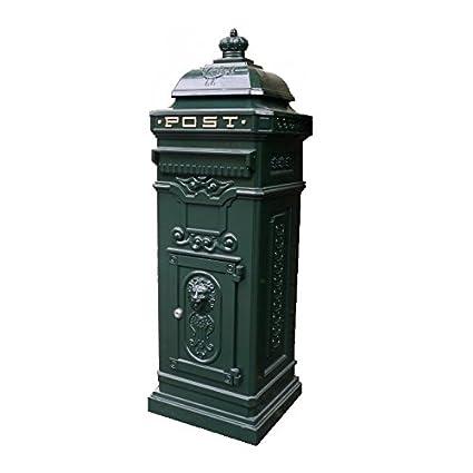 La haysham verde Metal buzón de correos – 103 cm de alto