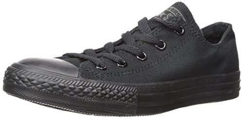 Converse Kids' Chuck Taylor All Star Core Canvas Low Top Sneaker, Black Monochrome, 12 M US Little Kid