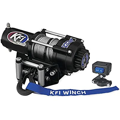 New KFI 2500 lb Winch & Model Specific Mounting Bracket - 2007-2014 Honda TRX500 FA Rubicon 4x4 ATV