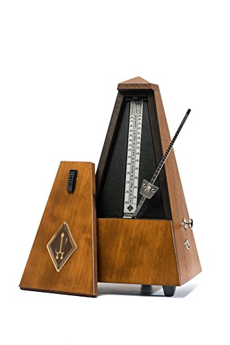 WITTNER 813M Metronome System Maelzel with Bell, Walnut Coloured, Mat Silk by Wittner