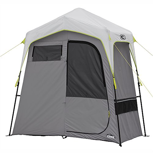 (CORE Instant Camping Utility Shower Tent with Changing Room)