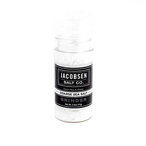 Jacobsen Salt Co. Loaded Grinder, White Grinding Salt, 2.5 Ounce