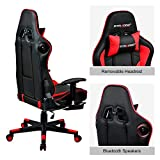 GTRACING Gaming Chair with Footrest and Bluetooth