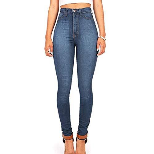RXF Los Pantalones Delgados de Cintura Alta de los Pantalones Vaqueros de Las Mujeres Eran Delgados 3#