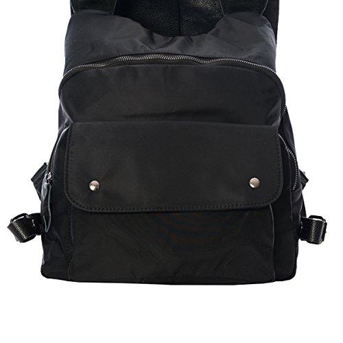 Nuova, Funzionale Tote Bag / Backsack, Vera Pelle Con Nylon (din A4 Adatto) Molto Leggera