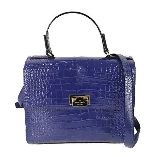Kate Spade New York Knightsbridge Croco Leather Doris Satchel, Asilah Blue (Kate Spade Knightsbridge)
