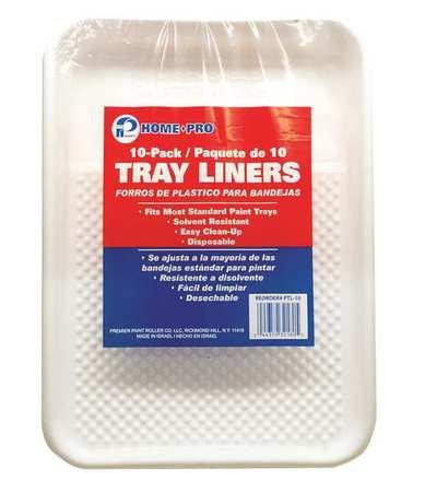 (Paint Tray Liner, 2 qt, Plastic, PK10)