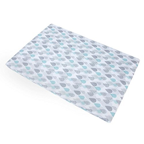 Baby Trend Aqua/Grey/White Drip Drop Play Yard Sheet (Trend Baby N Sheets Pack Play)