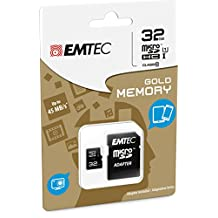 Emtec 32 GB Class 10 Mini Jumbo Extra MicroSDHC Memory Card with Adapter