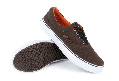 Lora Dora Mens Lace Up Pumps Casual Trainers Unisex Canvas Shoes Espadrilles Plimsoles Plimsolls Gents Size UK 3-11 Brown W8wQKa