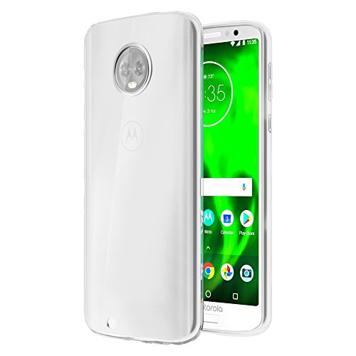 Moto G6 Case, OEAGO [Ultra Slim Thin] with Soft Feel Flexible and Easy Grip Gel Premium TPU Rubber Silicone Skin Cover Back for Motorola Moto G6 (G 6th Generation) - Clear