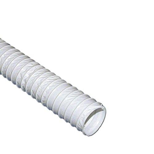 Tuyau d/évacuation 100err 2,5/m Blanc filet ronde Tuyau PVC abluft Syst/ème d/échappement
